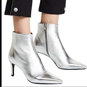 Rag & Bone Beha silver leather boot 6